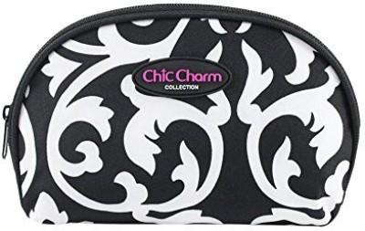 Jacki Design Chic Charm Dome Cosmetic Bag White Cosmetic Bag(White)