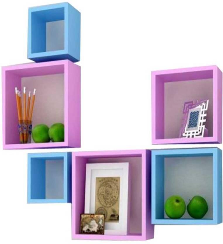 View huzainhandicrafts MDF Wall Shelf(Number of Shelves - 6) Furniture (huzain handicrafts)