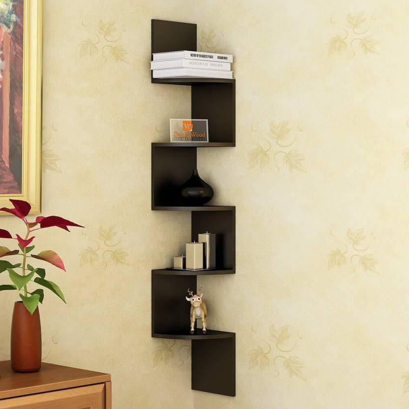 View huzainhandicrafts MDF Wall Shelf(Number of Shelves - 5) Furniture (huzain handicrafts)