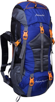 Attache 1025R Hiking Backpack (Royal Blue) With Rain Cover Rucksack - 70 L(Blue, Grey)