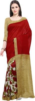 Ishin Printed Bollywood Art Silk Sari(Multicolor)