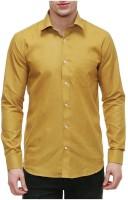 Big Mithila Tradition Formal Shirts (Men's) - Big Mithila Tradition Men's Solid Formal Yellow Shirt