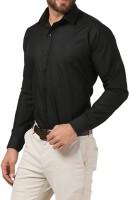 Cross Check Formal Shirts (Men's) - Cross Check Men's Solid Formal Black Shirt