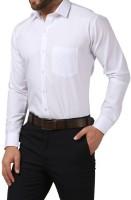 Cross Check Formal Shirts (Men's) - Cross Check Men's Solid Formal White Shirt