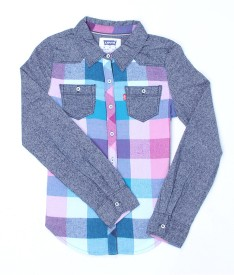 Levi's Girls Checkered Casual Multicolor Shirt