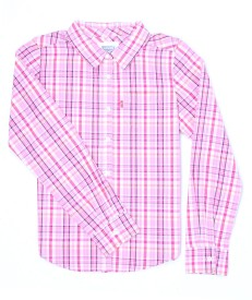 Levi's Girls Striped Casual Pink Shirt