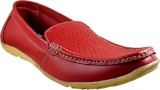Supreme Leather Loafers (Red)