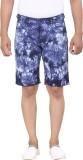 King & I Printed Men's Blue Basic Shorts