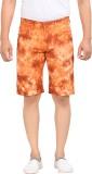 King & I Printed Men's Orange Basic Shor...