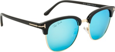 Ted Smith TS-Y9934/S_T-2 Over-sized Sunglasses(Brown, Blue)