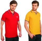Neva Solid Men's Polo Neck Multicolor T-...
