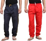 X-Cross Solid Men's Blue, Red Track Pant...