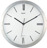 Ajanta Oreva Analog Wall Clock(Silver, With Glass)