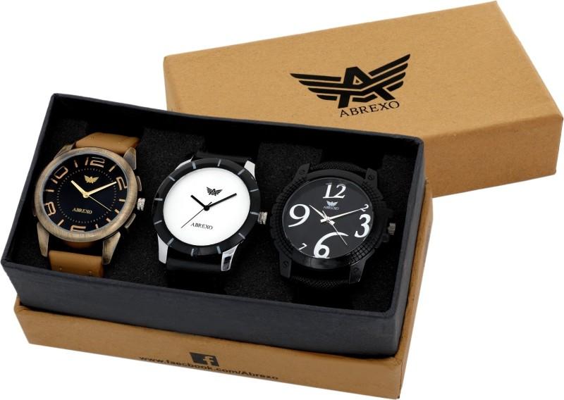 Abrexo Abx 7007 Gentz Superior Combo of 3 Watches Modish Analog W