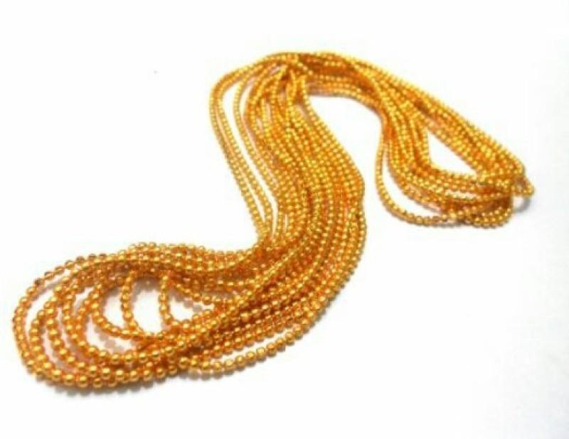 BestUBuy Shiny golden ball chain for bangle/jhumka jewelry making