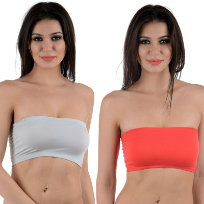 Stylish Me Tube Bra Women's Tube Grey, Red Bra at flipkart