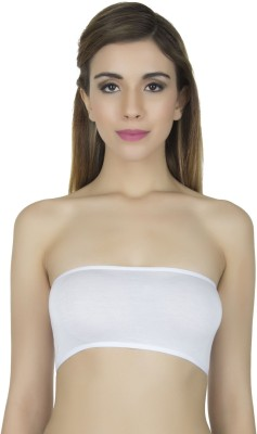Stylish Me Bandeau Bra Women's Tube White Bra at flipkart