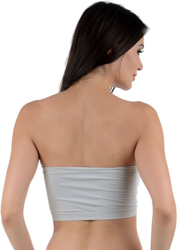 Muquam Stretchable Bandeau Women's Tube Grey Bra
