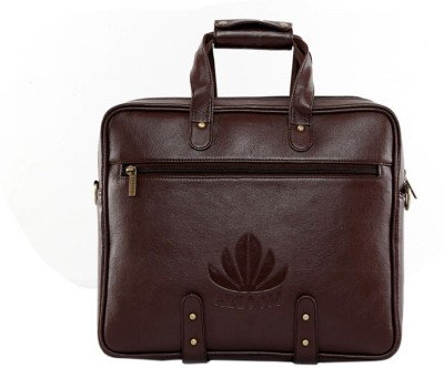 ABLOOM 0021s Medium Briefcase - For Men(Brown)