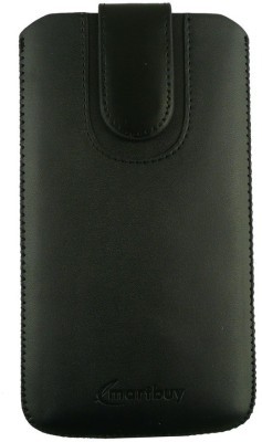 Emartbuy Pouch for Alcatel OneTouch Idol 3 (4.7 Inch )(Black Plain)