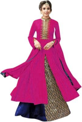 JULEE Cotton Embroidered Semi-stitched Salwar Suit Dupatta Material at flipkart