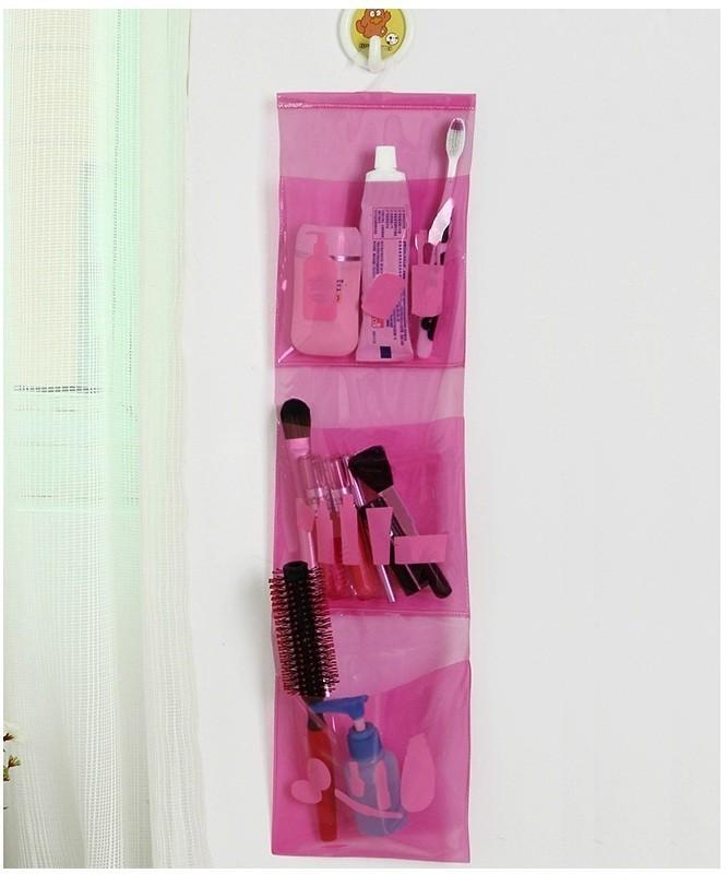 Melbon PVC Pink Hanging Organizer Accessories Organizer( )
