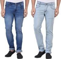 Denzor Jeans (Men's) - Denzor Slim Men's Light Blue, Blue Jeans(Pack of 2)