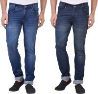 Denzor Jeans (Men's) - Denzor Slim Men's Multicolor Jeans(Pack of 2)