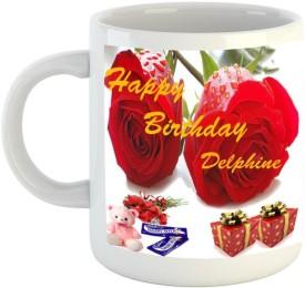 Emerald Happy Birthday Delphine Ceramic Mug(350 ml)