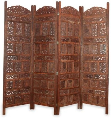 Onlineshoppee Brown Sheesham Wood Solid Wood Decorative Screen Partition(Free Standing, Finish Color - Brown)