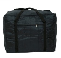 Kuber Industries Jumbo Attachi Bag in Soft Parachute Material, Blanket Cum Suitcase Bag, Storage Bag Small Travel Bag(Black)