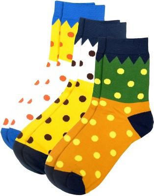 Viral Girl Men & Women Polka Print Mid-calf Length Socks(Pack of 3)