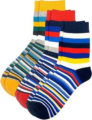 Viral Girl Men & Women Striped Mid-calf Length Socks(Pack of 3)