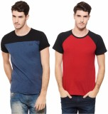Rigo Solid Men's Round Neck Multicolor T...
