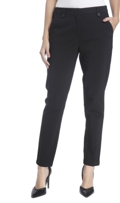 Vero Moda Slim Fit Women's Black Trousers at flipkart