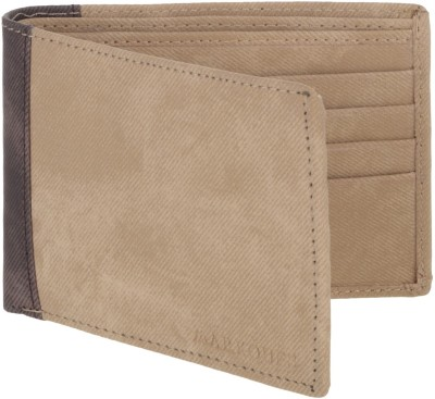 MARKQUES Men Beige Artificial Leather Wallet(8 Card Slots)