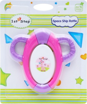 1st Step Space Ship Rattle Rattle(Pink, Purple)