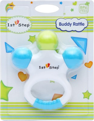 1st Step Buddy Rattle Rattle(Blue, White, Green)