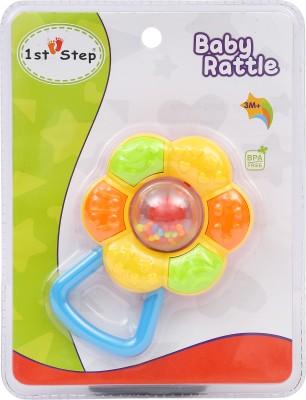 1st Step Flora Rattle Rattle(Blue, Orange, Green)