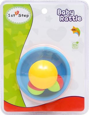 1st Step Mushroom Tumbler Rattle(Blue, Yellow)