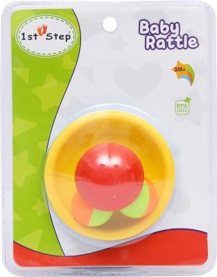 1st Step Mushroom Tumbler Rattle(Yellow, Red)