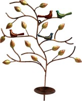 Sancheti Art Wall Hanging Tree Shape Iron 1 - Cup Candle Holder Set(Multicolor, Pack of 1)