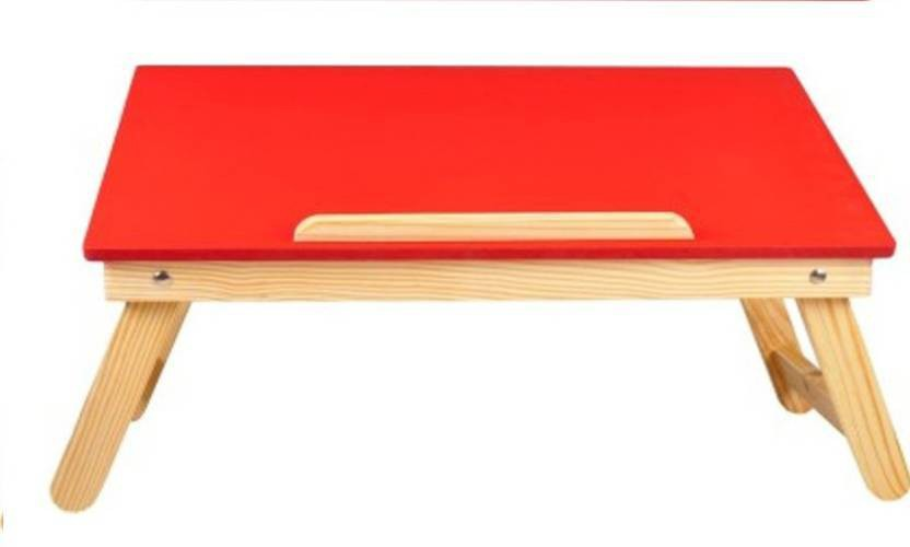 View Xudo Engineered Wood Portable Laptop Table(Finish Color - red) Furniture (Xudo)