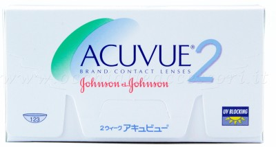 Johnson & Johnson ACUVUE 2 Bi-weekly Contact Lens(-1.00, TRANSPARENT, Pack of 6)