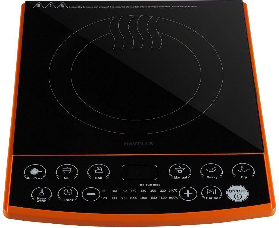 Havells ET-X Induction Cooktop(Black, Orange, Touch Panel)