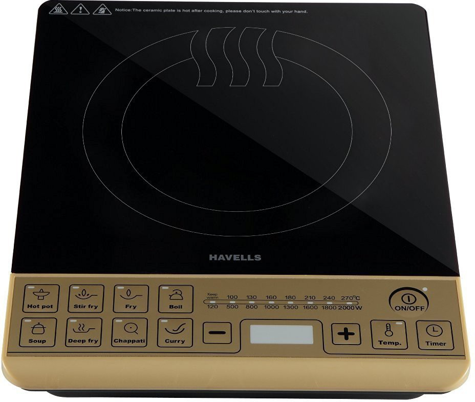 Havells GHCICAYK200 Induction Cooktop(Black, Gold, Touch Panel)
