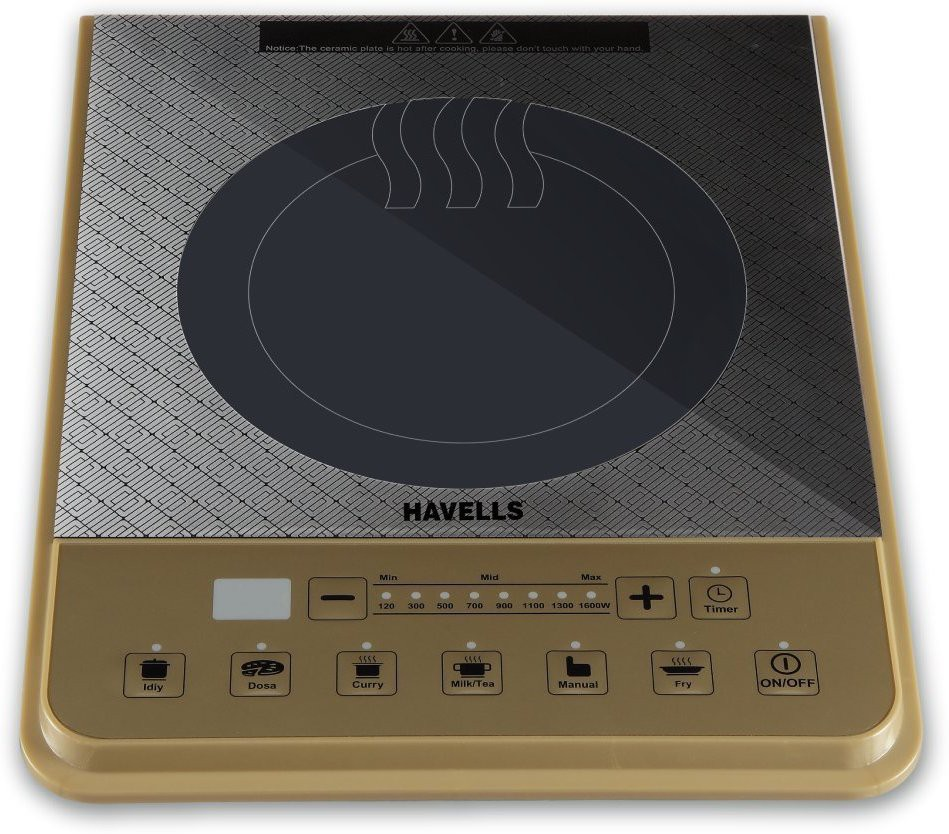 Havells PT Induction Cooktop(Gold, Push Button)