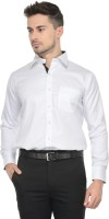 Pure By Vicbono Formal Shirts (Men's) - Pure By Vicbono Men's Self Design Formal White Shirt