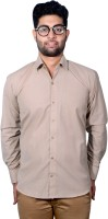 Sky Heights Formal Shirts (Men's) - Sky Heights Men's Solid Formal Brown Shirt