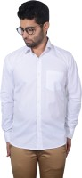 Sky Heights Formal Shirts (Men's) - Sky Heights Men's Solid Formal White Shirt